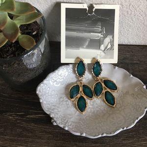 Anthropologie Leaf Dangle Earrings
